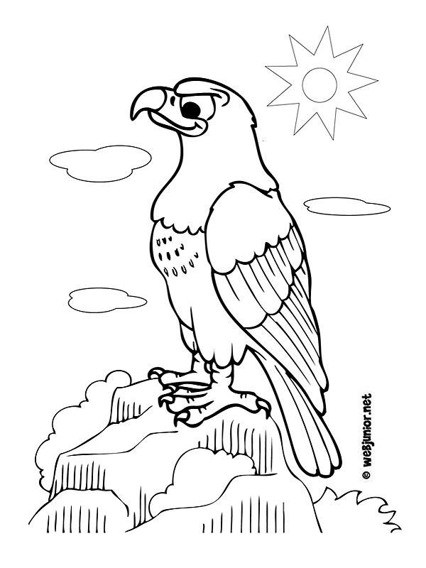 Coloriage et dessins gratuits Aigle sous le soleil à imprimer