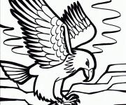 Coloriage et dessins gratuit Aigle sur la mer à imprimer