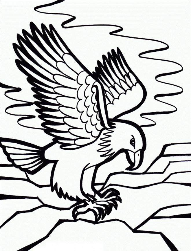 Coloriage et dessins gratuits Aigle sur la mer à imprimer