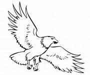 Coloriage et dessins gratuit Aigle vecteur à imprimer