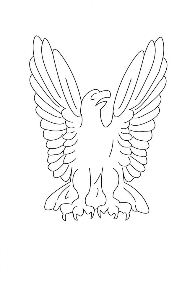 Coloriage et dessins gratuits Le symbole d'Aigle à imprimer