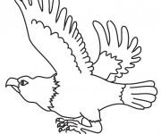 Coloriage et dessins gratuit Vautour qui s'envole à imprimer