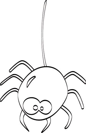 Coloriage et dessins gratuits Araignée amusante à imprimer
