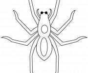 Coloriage Araignée avec les yeux en noir