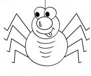 Coloriage Araignée comique