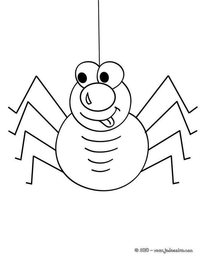 Coloriage et dessins gratuits Araignée comique à imprimer