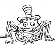 Coloriage Araignée comique dessin animé
