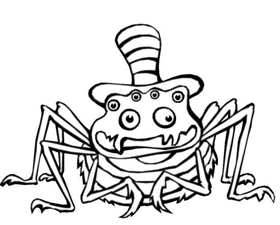 Coloriage et dessins gratuits Araignée comique dessin animé à imprimer