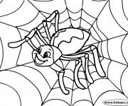 Coloriage Araignée contente