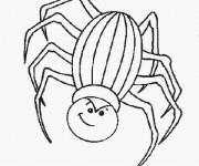 Coloriage dessin  Araignée d'Halloween