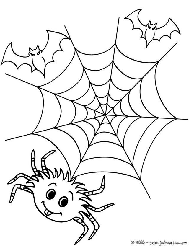 Coloriage et dessins gratuits Araignée de Halloween à imprimer