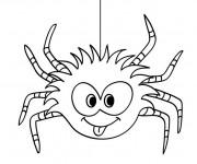 Coloriage et dessins gratuit Araignée drôle à imprimer