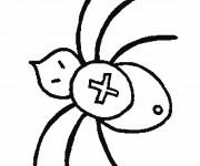 Coloriage Araignée en croix
