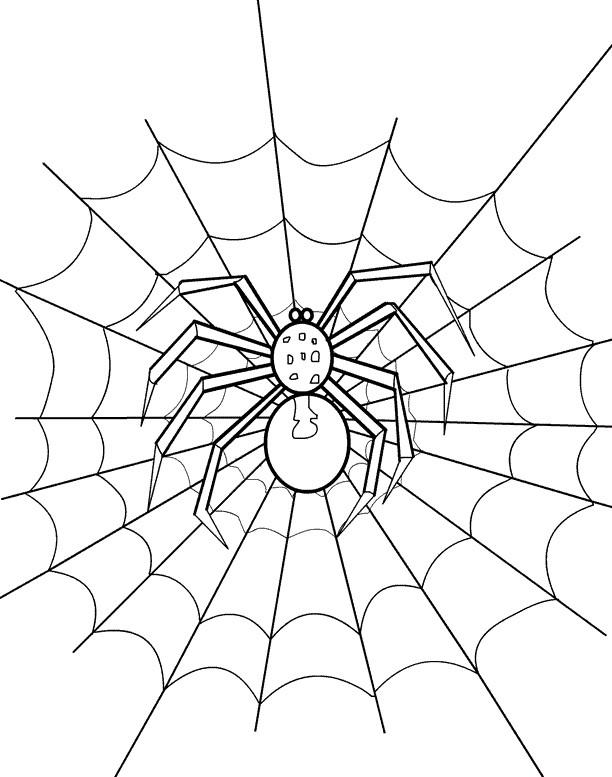 Coloriage et dessins gratuits Araignée en noir et  La Toile à imprimer