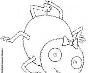 Coloriage Araignée heureuse