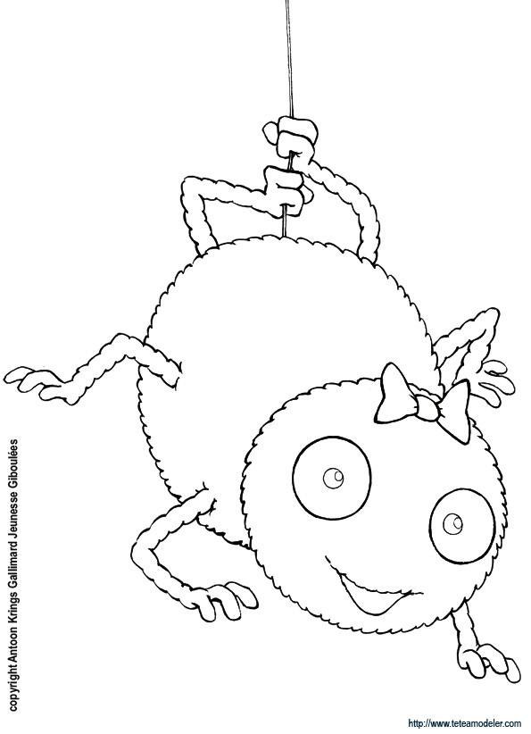 Coloriage et dessins gratuits Araignée heureuse à imprimer