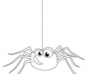 Coloriage Araignée humoristique