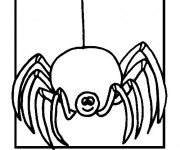 Coloriage Araignée joyeuse