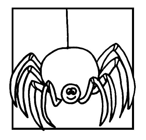 Coloriage et dessins gratuits Araignée joyeuse à imprimer