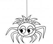 Coloriage Araignée mignonne