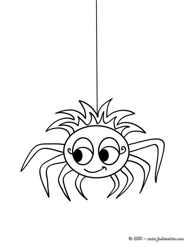 Coloriage Araignée mignonne dessin gratuit à imprimer