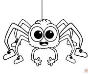Coloriage et dessins gratuit Araignée qui fait rire à imprimer