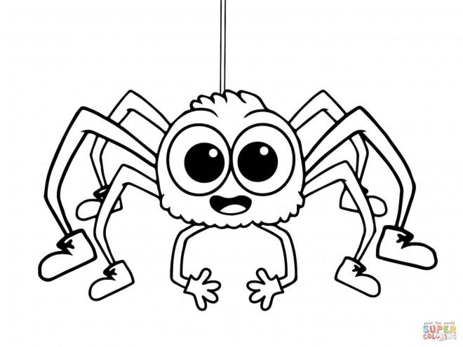 Coloriage et dessins gratuits Araignée qui fait rire à imprimer