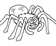 Coloriage Araignée qui rigole