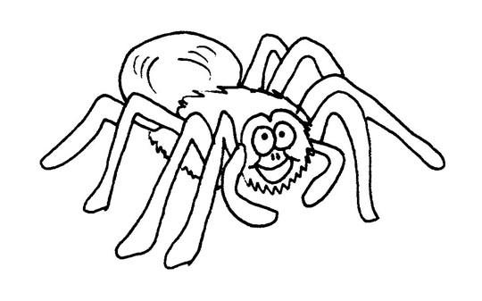 Coloriage Araignée Qui Rigole Dessin Gratuit à Imprimer