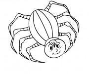 Coloriage Araignée qui sourit