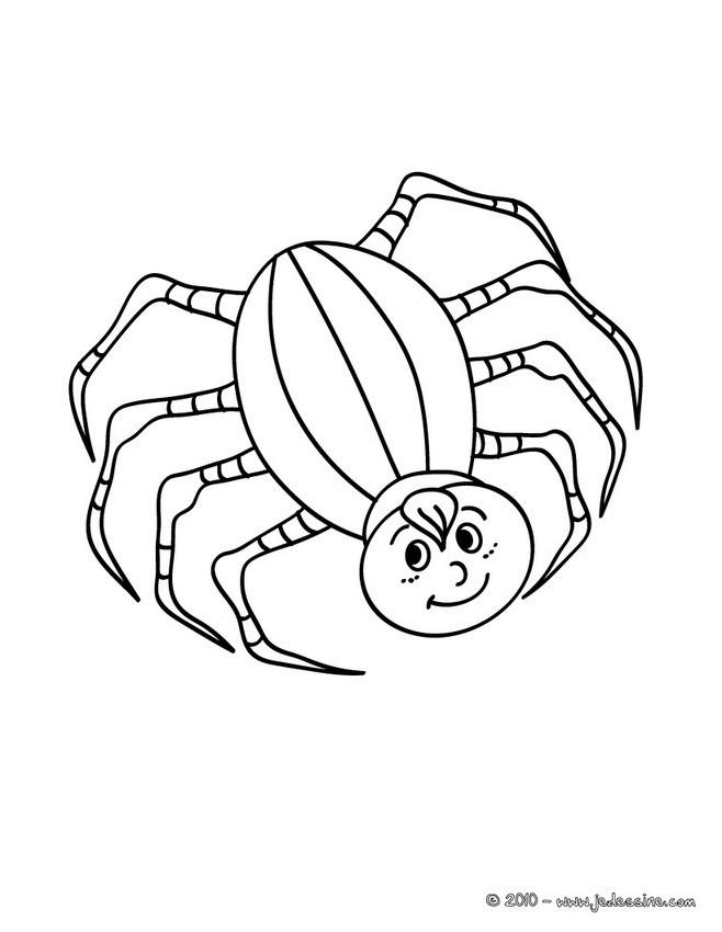 Coloriage et dessins gratuits Araignée qui sourit à imprimer