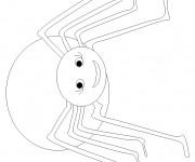 Coloriage Araignée souriante à télécharger