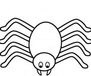 Coloriage Araignée stylisé