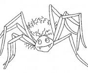 Coloriage Araignée Vampire