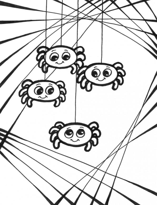 Coloriage et dessins gratuits Bébés d'Araignée à imprimer