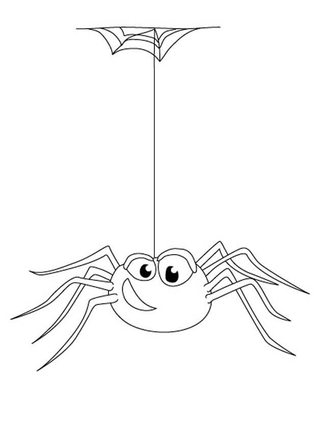 Coloriage et dessins gratuits drôle d'araignée à imprimer