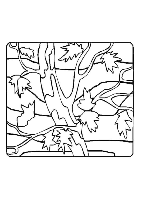 Coloriage et dessins gratuits Arbre avec des Feuilles à imprimer