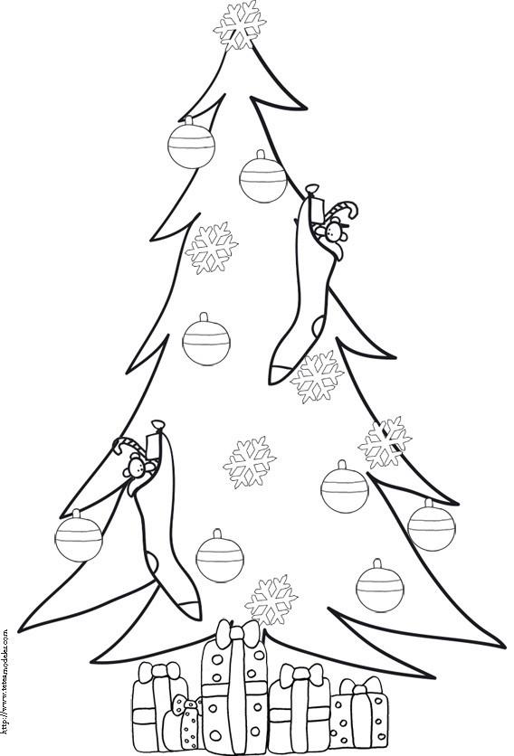 Coloriage et dessins gratuits Arbre de Noël à imprimer