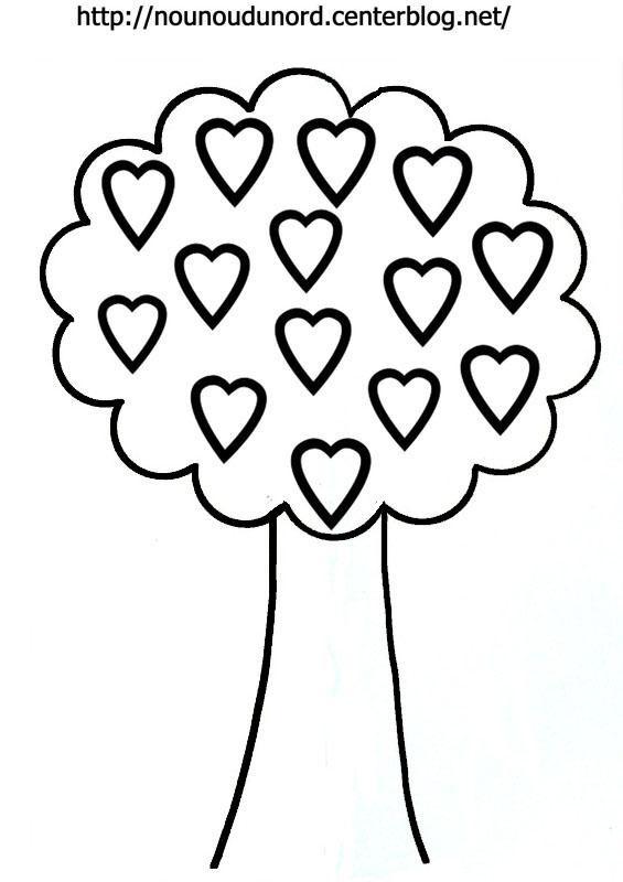 Coloriage et dessins gratuits Arbre en coeur à imprimer