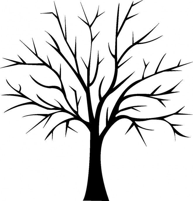 coloriage arbre en noir dessin gratuit imprimer. Black Bedroom Furniture Sets. Home Design Ideas