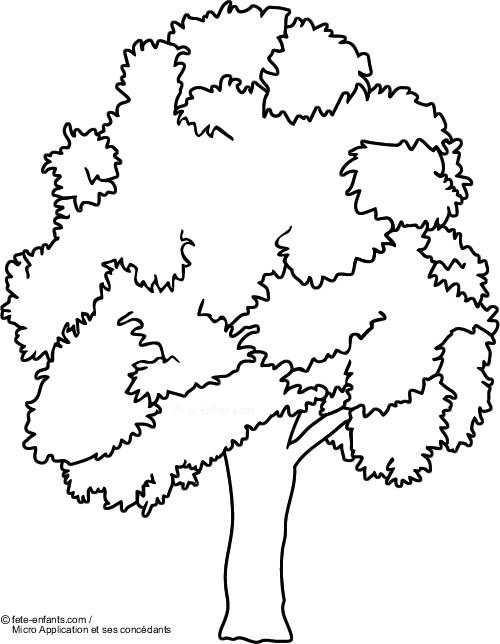 Coloriage et dessins gratuits Arbre et l'environnement à imprimer