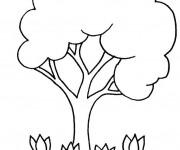 Coloriage et dessins gratuit Arbre et Roses à imprimer
