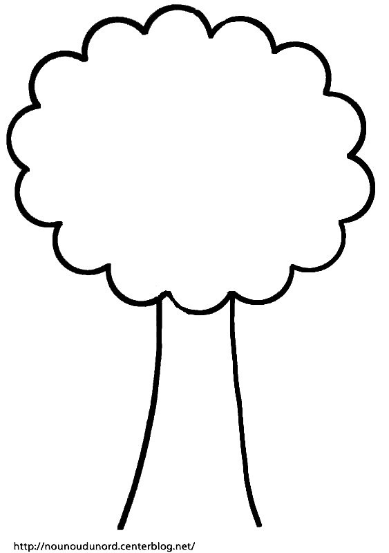 Coloriage arbre facile et simple dessin gratuit imprimer - Dessin arbre simple ...