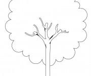Coloriage et dessins gratuit Arbre maternelle à imprimer