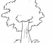 Coloriage et dessins gratuit Arbre pour enfant à imprimer