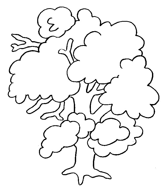 Coloriage et dessins gratuits Arbre Printemps pour décoration à imprimer