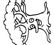 Coloriage et dessins gratuit Arbre rigolote à imprimer