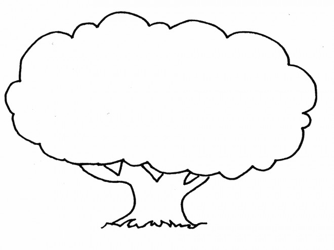 Photo Coloriage Arbre.Coloriage Arbre Simple Dessin Gratuit A Imprimer