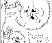 Coloriage et dessins gratuit Arbres avec visages à imprimer