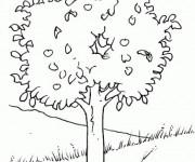 Coloriage et dessins gratuit Arbres et Plaine à imprimer